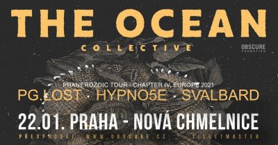 Plakát The Ocean Collective, Pg.Lost, Hypno5e, Svalbard - Praha