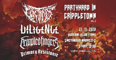 Plakát Partyhard in Crippletown vol. 3 | Klub Famu | Metal, Deathcore