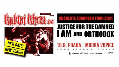 Plakát Kublai Khan, Justice for the Damned, I AM, Orthodox - Praha