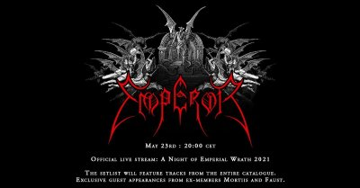 Plakát EMPEROR  Official live stream: A Night of Emperial Wrath 2021