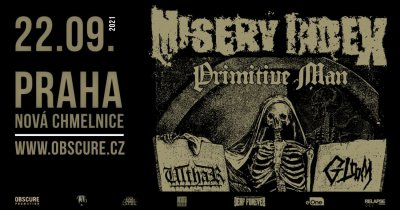 Plakát MISERY INDEX, PRIMITIVE MAN, ULTHAR, GLOOM - Praha